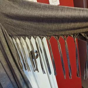 Pol gray fringed cardigan M